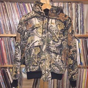 Cabellas camouflage work coat